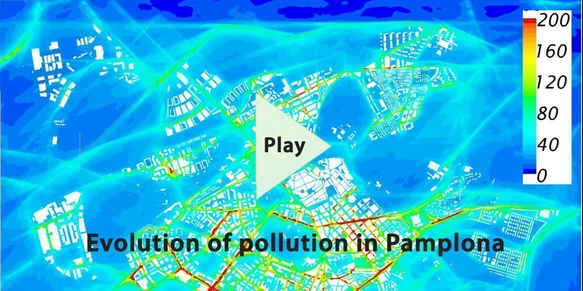 Evolution of pollution in Pamplona